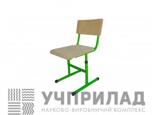 Стілець учнівський сірий/зелений.